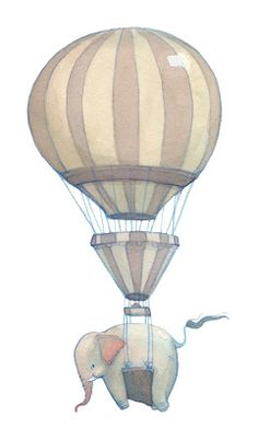 Neesha Hudson Illustration: Hot Air Balloons...and Elephants