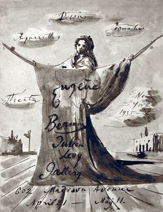 Eugene Berman - Dessins, Gouaches, Aquarelles (Julien Levy Gallery, 1936) - 1936 ink and wash on paper