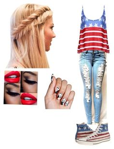 American Dream by batgirlsupergirl on Polyvore featuring polyvore, fashion, style and Converse