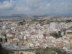 Panoramica desde el castillo alicante norte