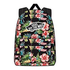Vans Realm Womens Backpack One Size Hawaiian Black ** Click image to review more details.