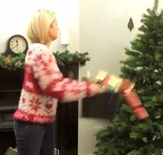 British supermarket chain ASDA created a short and hilarious Vine video in which a frustrated woman decorates a Christmas tree simply by tossing the contents of a holiday storage box at it. via Dig...