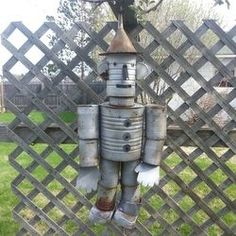 A great recycled project to make with cans is a Tin Can Man. You can have your very own Tin Man from the Wizard of Oz hanging in your yard.  My...