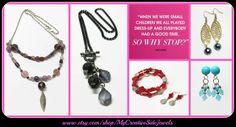 Dress up with fun handmade jewelry.  SHOP: www.etsy.com/shop/MyCreativeSideJewels