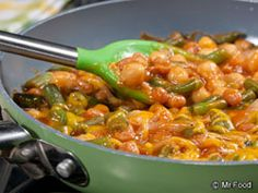 Cheesy Skillet Beans | mrfood.com