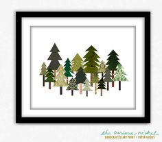 Tree Collage  Nature Collage  Art Giclee Print by TheCuriousNickel, $15.00