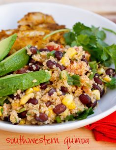 Southwestern Quinoa. No yogurt or cheese because of the Daniel Fast :) It was a delicious recipe that I first ate at @Rachel Johnston's! :)