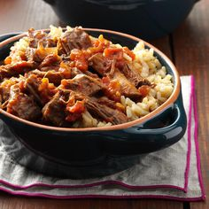 Chipotle Shredded Beef Recipe -This beef is delicious all rolled up in a tortilla, served with corn salsa and eaten as a burrito. You could also serve it over rice or mashed potatoes or in buns. —Darcy Williams, Omaha, Nebraska