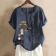 Summer Blouses, Summer Tops, Blouses For Women, T Shirts For Women, Basic Tops, Printed Shorts, Shirt Blouses, Casual Dresses, Casual Outfits