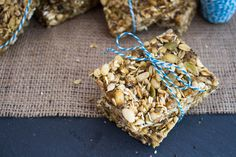 No Bake Peanut Butter Granola Bars. Easy, vegan, delicious, and only take 5 minutes to make!