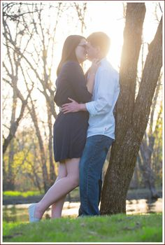 Romance and love at Gowe Park in Gurnee, Illinois. Love the glow of the sunset.