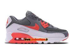 Nike Air Max 90 Essential - Chaussure Nike Sportswear Pas Cher Pour Homme Gris foncé/Rouge université/Gris loup 616730-019H