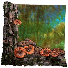 October - In the Forest , 95 x 99 cm, 2012 Textile Art, Firewood, October, Texture, Crafts, Painting, Surface Finish, Woodburning, Manualidades