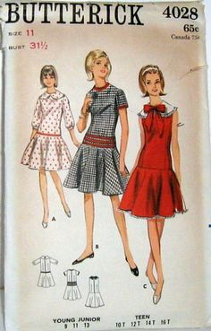 Fashion patterns 1960s