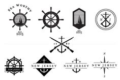 Nautical Vector Pack + Logo Template - Illustrations - 5