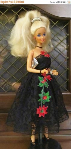 ON SALE 50% Christmas Barbie  Noel  1966 Dressed By by DressMeDoll