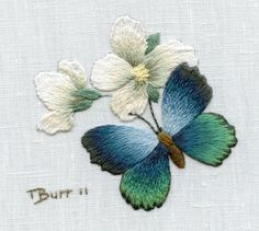 Wonderful Ribbon Embroidery Flowers by Hand Ideas. Enchanting Ribbon Embroidery Flowers by Hand Ideas. Hardanger Embroidery, Paper Embroidery, Learn Embroidery, Japanese Embroidery, Hand Embroidery Stitches, Silk Ribbon Embroidery, Hand Embroidery Designs, Embroidery Techniques, Embroidery Kits