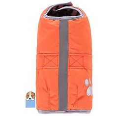 Awtang Pet Dogs Reversible Windbreaker Jacket with Reflective Band North Easter Blanket Pet Coat Warm Waterproof Winter Clothes Orange 4XL ** You can get additional details at the image link. (This is an affiliate link) #Dogs