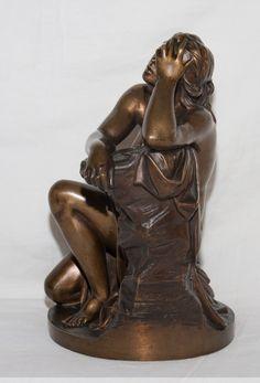 """Sculpture en bronze """"Ariane"""" signée Aimé Millet XIXe siècle - AnticStore Antiquités 19ème siècle - Réf.40375"""