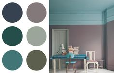 48 Trendy Ideas For House Interior Paint Colors Farrow Ball Estilo Interior, Interior Rugs, Interior Paint Colors, Wall Colors, House Colors, Color Inspiration, Interior Inspiration, Teal Color Schemes, Living Room Colors