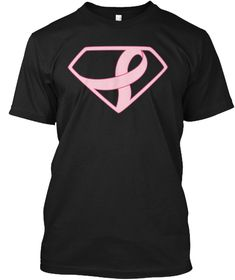Breast Cancer Awareness Shirt Black T-Shirt Front