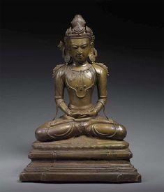 Crowned Buddha Burma, Arakan Kingdom 15th century Bronze Height: 52 cm