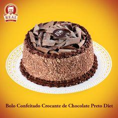 Bolo Confeitado Real Crocante de Chocolate Preto Diet