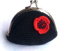Crochet coin purse by Pimentayflor on Etsy