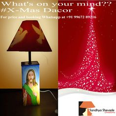 Celebrate coming #xmas with our new collection of #Lampshade. For price and booking Whatsapp at +91-9967289216 for more information about us visit our website sandhyashevadecreations.com #xmas #christmas #xmasgift #christmasgift #marrychristmas