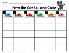 Learning With Mrs. Parker: It's All Good! Pete the Cat Roll and Color activity sheet