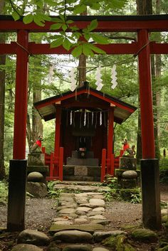 small fox shrine nikko -- if you ask Japanese people, many will tell you that Inari can become a fox. This view is discouraged by most Shinto priests who say Inari has white foxes (kitsune) that act as her messengers but isn't a fox herself. Either way, foxes get a great deal of respect in Japan. There's often a small shrine to foxes at Inari Shrines. People leave gifts of fried tofu at these shrines. It's thought that this is their favorite food.
