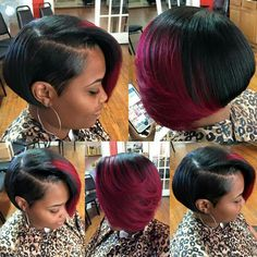 Short Pulled Back Bob. Cute Hairstyles For Short Hair, Short Hair Cuts, Curly Hair Styles, Natural Hair Styles, My Hairstyle, Wig Hairstyles, Haircuts, Sassy Hair, Relaxed Hair