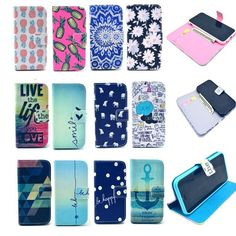 """Cute Painted Leather Wallet Card Stand Flip Cover Case for iPhone 6 Plus & 4.7"""" #UnbrandedGeneric"""