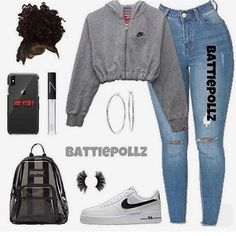 MORE PICTS You can also see more ideas about baby nike outfits , nike outfits sweatshirts , nike outfits volleyball , nike outfits dress , n. Casual School Outfits, Baddie Outfits Casual, Swag Outfits For Girls, Cute Teen Outfits, Teenage Girl Outfits, Cute Comfy Outfits, Teen Fashion Outfits, Hipster Fashion, Trendy Outfits