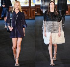 Ellus 2014 Winter Womens Runway Collection - São Paulo Fashion Week Brazil - Inverno 2014 Mulheres Desfiles - Flowers Floral Embroidery Embellishment Fringes Peek-A-Boo Mesh Lace Furry Outerwear Coats Multi-Panel Vest Pinafore Dress Jumpsuit