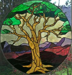 frank lloyd wright stained glass tree of life mosaic | Tree Of Life By Designs To Share With You , Stained Glass