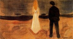 The Lonely Ones Edvard Munch 1907