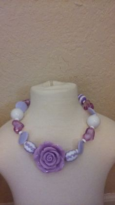This is a childs size large bead necklace. (Bubble Gum Necklace).