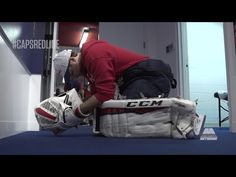 Caps Red Line goes behind the scenes of Braden Holtby's Pre-Game preparations. By: Monumental Sports Network Hockey Drills, Hockey Memes, Hockey Goalie, Ice Hockey, Hockey Pads, Braden Holtby, Hockey Gloves, Hockey Room, Washington Capitals