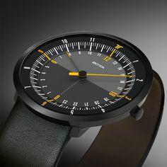 Duale Einzeigeruhr DUO 24 - Zwei Zeitzonen auf einen Blick | Botta Design