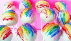 Rainbow Cake Pops...