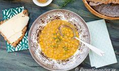 Ärtsoppa med tillbehör Budget Meals, Budget Recipes, Curry, Ethnic Recipes, Pea Soup, Food, Student, Ska, Recipes