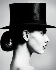 """""""Future Classics"""" NK photographer: Marcus Ohlsson Alina Baikova  top hat, profile  Alina Baikova by Marcus Ohlsson for NK Future Classics Campaign"""