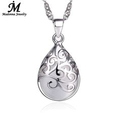 50a1c318f27d New Fashion Silver Plated Pendant Pink And White Moonstone Stone Opal  Pendant Hollow Design Love Trevi Fountain Women Jewelry-in Pendants from  Jewelry ...