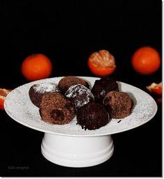 Mandarinos csokoládé trüffel. Muffin, Paleo, Breakfast, Food, Candy, Meal, Eten, Beach Wrap, Meals