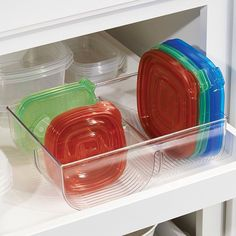 "104 Likes, 1 Comments - Household Mgmt 101 & Declutter (@taylorflanery) on Instagram: ""Food container #lids are always hard to keep #organized. Here's one idea -- use a #lid #organizer…"""