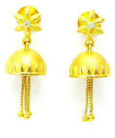 New Gold Earrings/Drop Stylish Different Design 22k(916 Gold Purity)Bis Hallmark