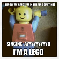 So in another mockery of the Galileo song - meet Ayo I'm a LEGO! This internet lego meme has me cracking up - your kids will love it! Haha Funny, Funny Cute, Funny Memes, Funny Stuff, Funny Things, Random Stuff, Random Things, Funny Shit, Nerdy Things