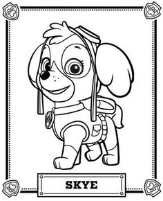 Skye Paw Patrol Badge Coloring Coloring Pages