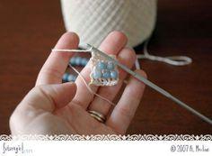 futuregirl craft blog : Crochet Beaded Bracelet tutorial by lara